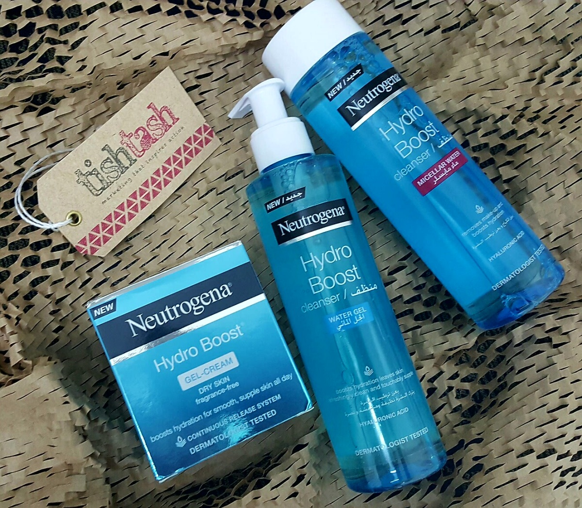 FREE EVALUATION: Found my Hydro Boost range of Neutrogena  from Tish Tash